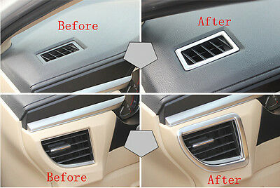 2x Stainless Inner Air Vent Outlet Frame Cover Trim For Toyota Corolla 2014