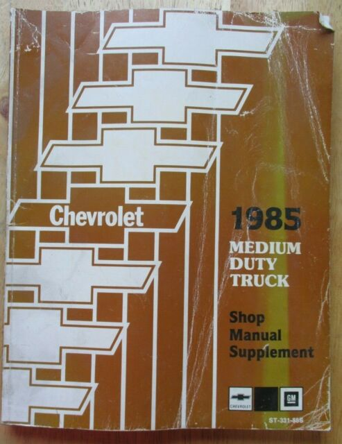 1985 Chevrolet Medium Duty Truck Shop Manual St331