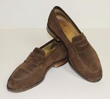 POLO RALPH LAUREN Mens Brown Suede PENNY LOAFERS  Size UK 7 - US 8 - EU 41 Shoes