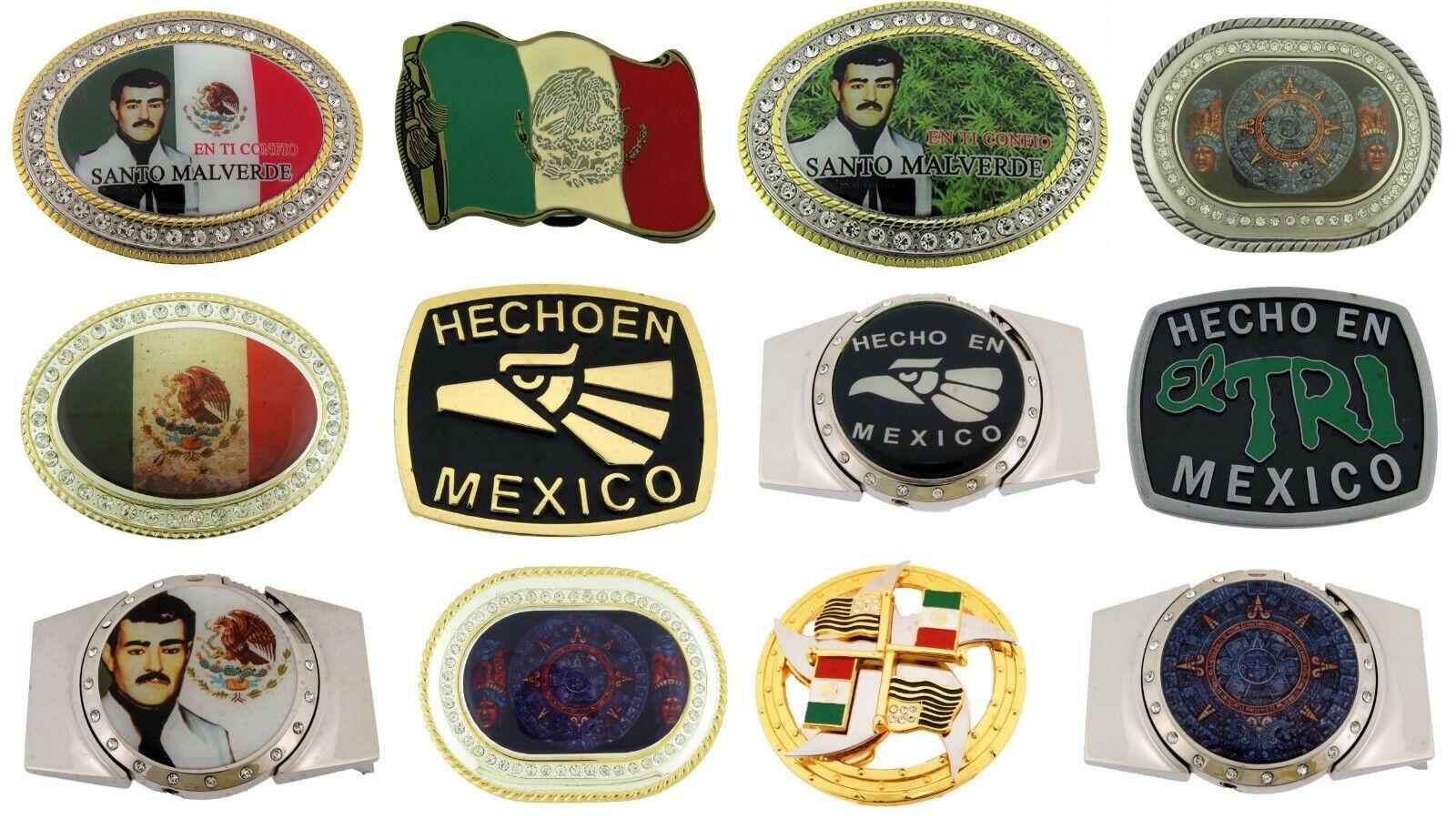 12 Stück Mexikanisch Azteca Kalender Hecho Mexico Malverde Gürtel Anzünder Metal