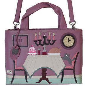 Image Is Loading Ciccia Cat Turkey Dinner Plum Leather Grab Bag