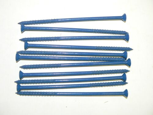 "Lot of 100 Pcs. 1//4/"" x 6/"" Phillips Flat Head Masonry Screws"