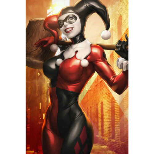 Batman DC Superheroes Silk Poster 12x18 24x36 inch 022 Harley Quinn