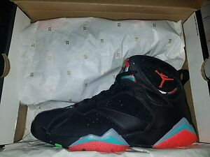on sale 1e412 6ae1c Image is loading Nike-Air-Jordan-VII-7-Retro-30th-Black-