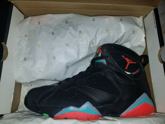 7ed7556ad0bd3a Nike Air Jordan VII 7 Retro 30th Black Marvin The Martian 705350-007 SZ 11