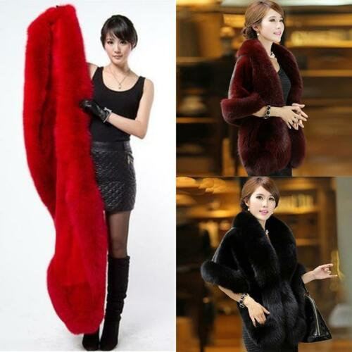 Women Winter Faux Fur Coat Shawl Cloak Cape Ladies Coat Jacket Outwear Fashion