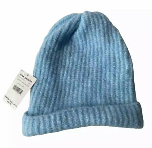 Free People Beanie Blue Knit Hat Lullaby Robin's Egg NWT Women's Oversized