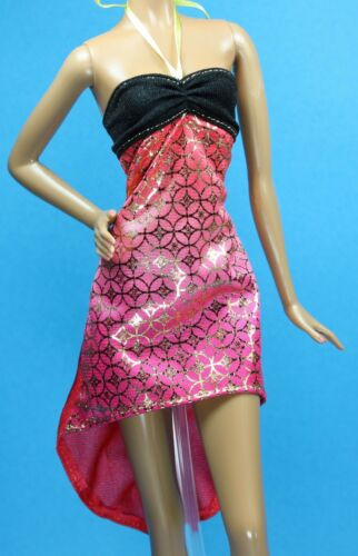 Barbie Fashionistas #24 Crazy for Coral Black Gold PETITE Skipper Dress