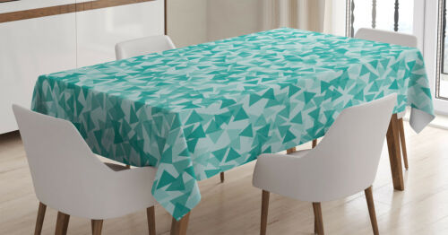 Turquoise Nappe moderne triangles Lavable
