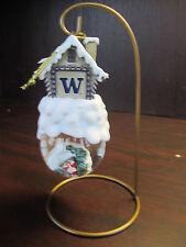 "U Of WASHINGTON Home Sweet Home Ornament Snow Globe NEW in box CHRISTMAS 6"""
