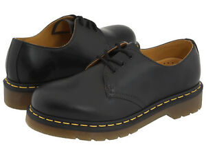 Men-Dr-Martens-1461-Low-Top-3-Eye-11838002-Black-Smooth-Leather-100-Authentic