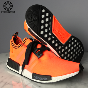 1c45591e04588 adidas x SIZE NMD R1 PK  ORANGE NOISE  - NEON ORANGE CBLACK RUN ...