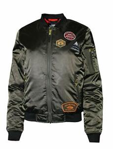 The-North-Face-Womens-Barstol-Bomber-Jacket-Dark-Green-Size-Small