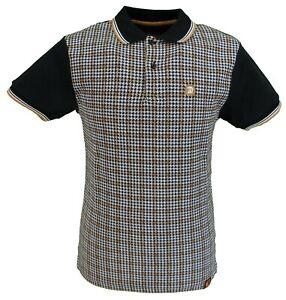 Trojan-Records-noir-retro-Dogtooth-Polo-Shirts