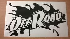 LARGE bonnet fun dirt off road mud paint splat 4x4 vinyl car sticker mitsubishi
