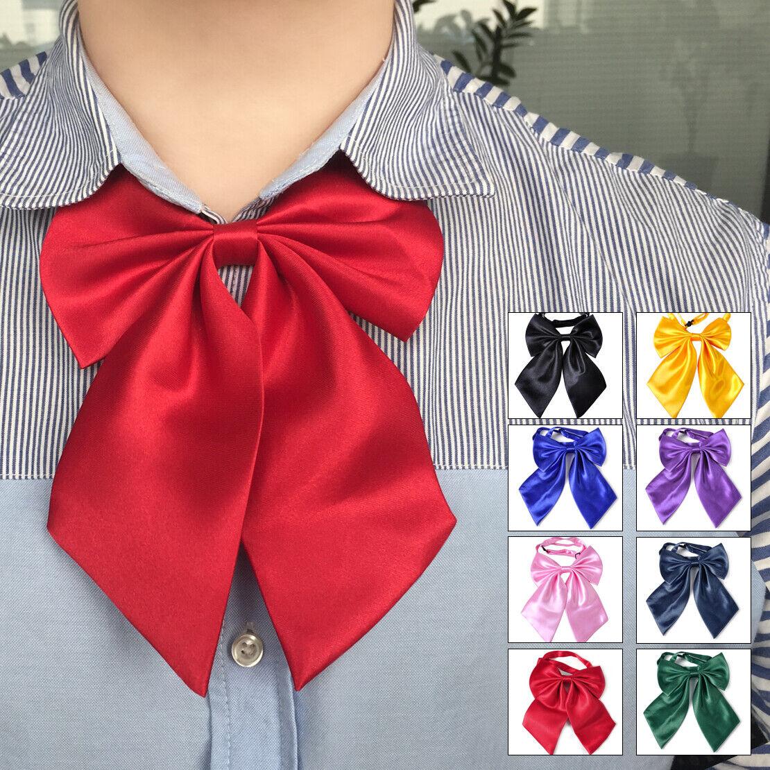 Fashion Women Girl Bow Tie Neckwear Formal Work Party Banquet Adjustable Necktie