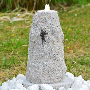 Das Bild Wird Geladen Granit Stein Gartenbrunnen  Komplett Set Quellstein Eidechse LED