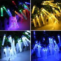 3.5m 20 LED Solar Icicle String Light Outdoor Waterproof Luces Xmas Garden Lamps