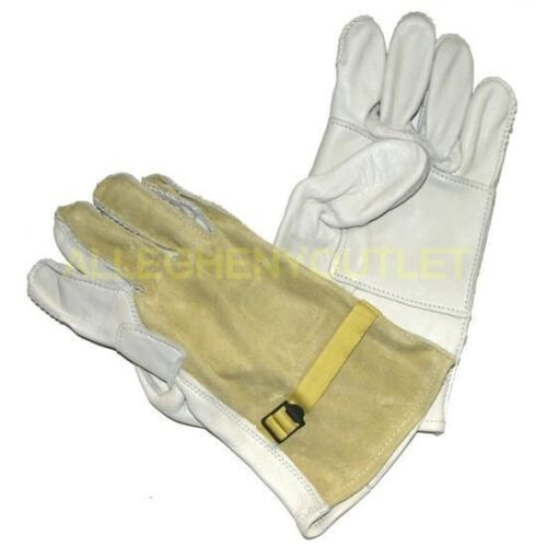 USGI-Military-Rappelling-Cattlehide-Leather-Heavy-Duty-Work-Gloves-Size-4-LN