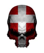 Denmark Skull Decal - Dutch Flag Sticker Graphic