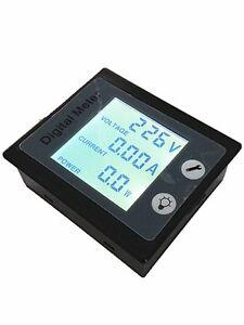 AC-110V-220V-Digital-LCD-10A-100A-Watt-Power-Meter-Volt-Amp-Ammeter-Voltmeter
