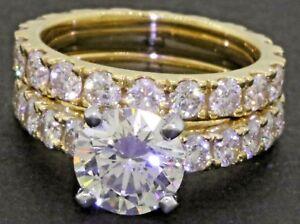 ba7f31ad510b Mayors GIA Cert. 18K oro 3.77CT vs Diamante Anillo de boda nupcial ...