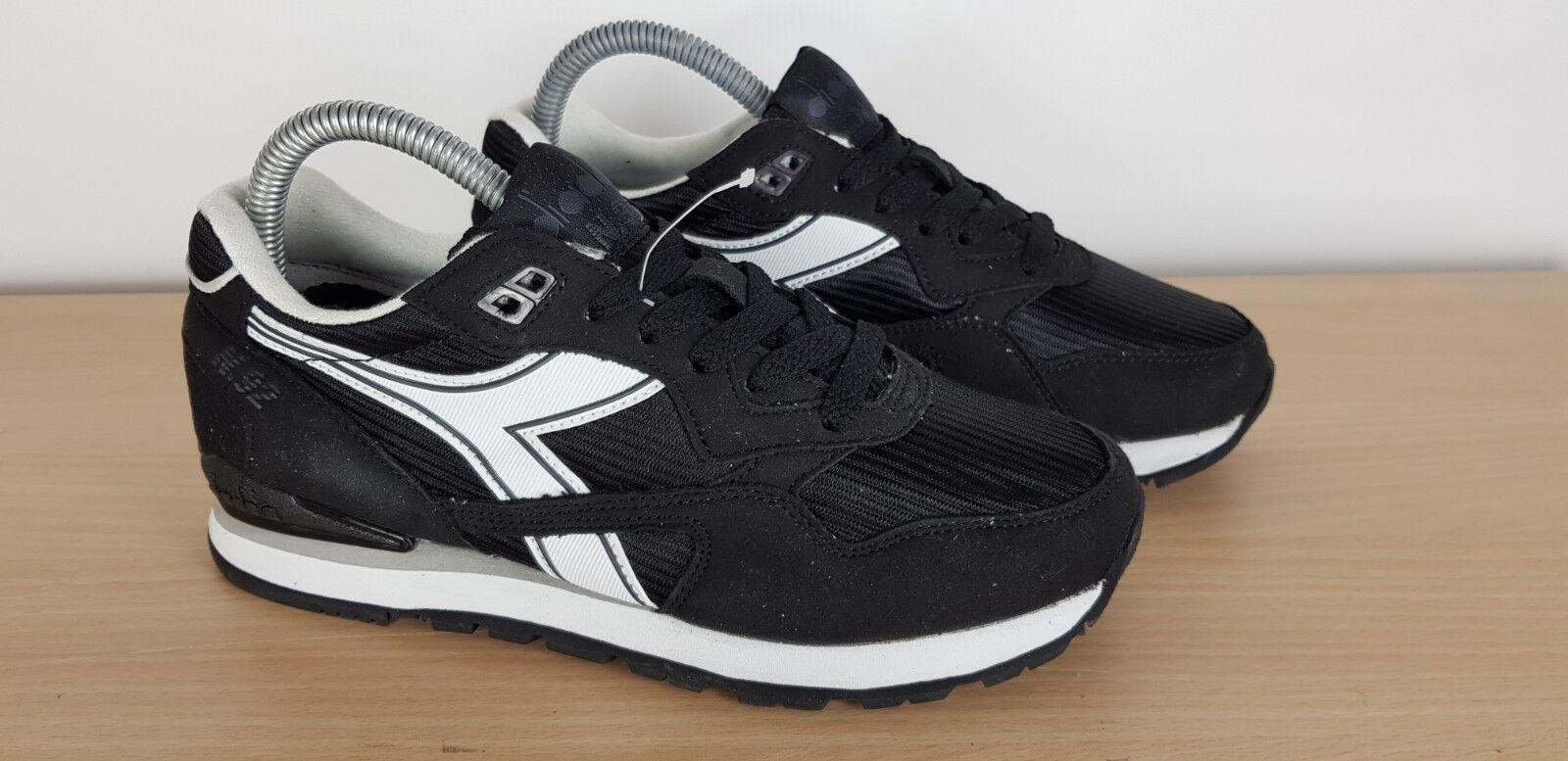 Diadora Unisex para Hombre Damas Niños Niñas Negro N92 Retro Zapatillas Deportivas UK 5