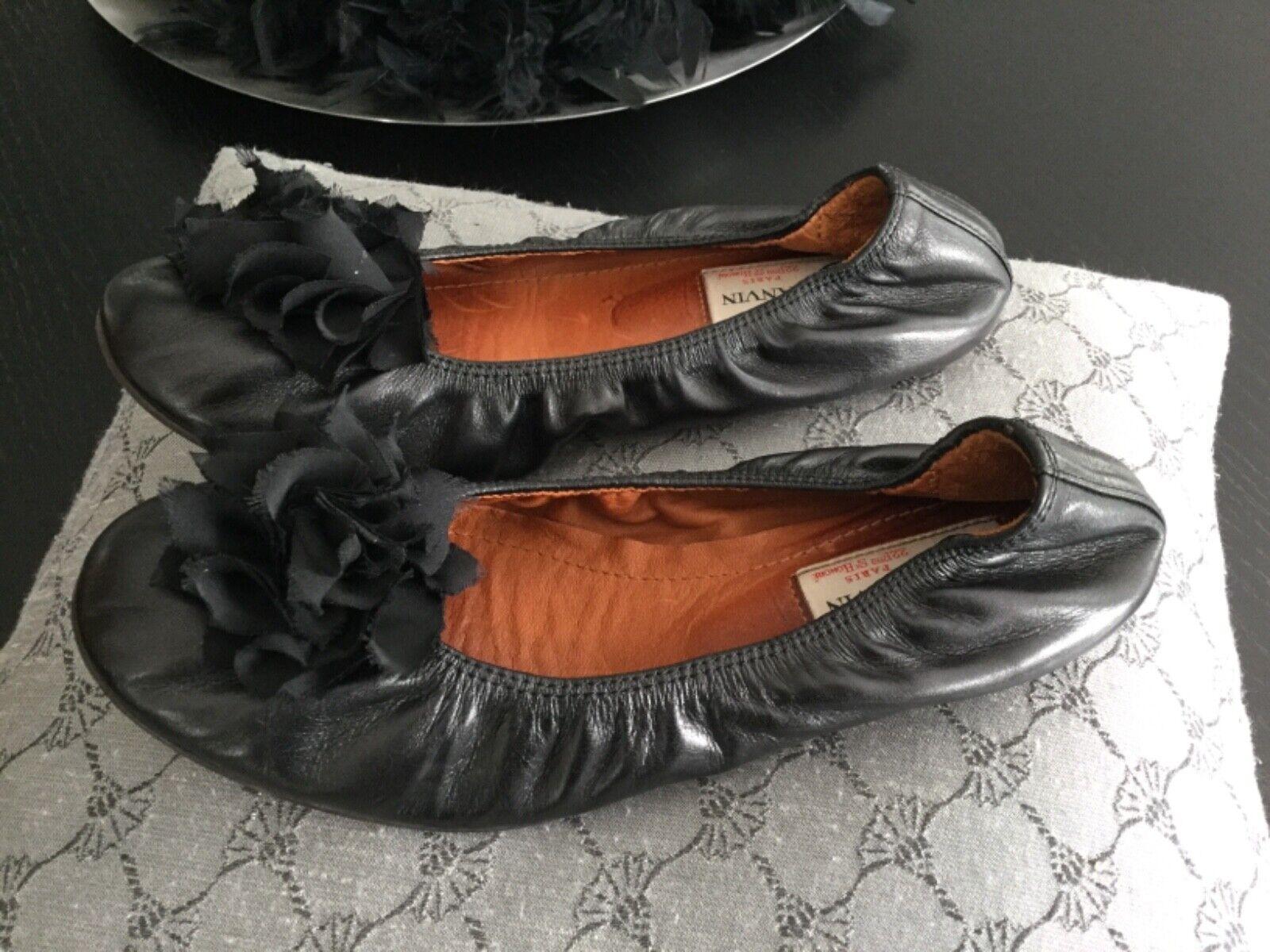 Lanvin , erhalten gut sehr 2 1 37 Größe schwarz ballerina