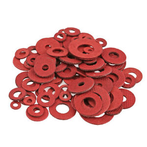 Red-M3-M4-Flat-Washer-1-0mm-Insulation-Gaskets-Flat-Spacer-Washers-Fasteners