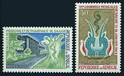 Medical Meeting,1969.antelope Symbol. Senegal 310-311,mnh.michel 392-393 Organizations