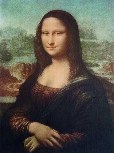 Gemälde Mona Lisa Bild mit Bilderrahmen BAROCK Antik look 56x46 cm Bilder NEU