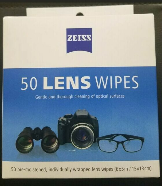 ZEISS Pre-moistened Lens Cleaning Wipes - 50 Count Eye Glasses Lenses  Computer