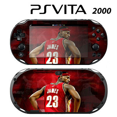 The Cheapest Price Sony Ps Vita Slim 2000 Skin Decal Sticker Vinyl Wrap Lebron James Cavs For Improving Blood Circulation Faceplates, Decals & Stickers