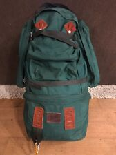 Vintage 70's EAGLE CREEK  Leather trimmed Mountianeering Hiking BACKPACK USA