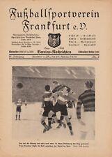 Programm | 1939 | FSV Frankfurt v Rapid Wien | Tschammer Pokal Finale @ Berlin