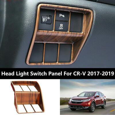 For 2017-2019 Honda CRV CR-V Peach Wood Grain Rear Window Decorative Cover Trim