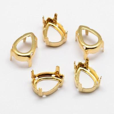 3mm 9ct YELLOW GOLD 4 CLAW ROUND GEMSTONE GEM STONE SETTING COLLET
