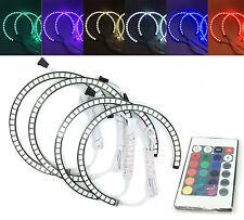 4x RGB LED Angel Eye Halo Rings Light Lamp remote control BMW E46 M3