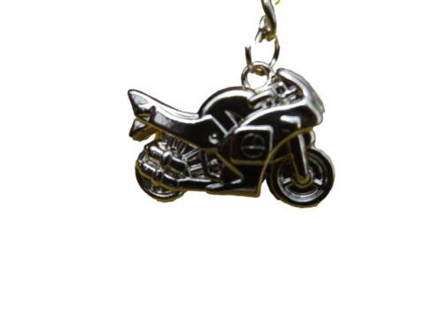 MEN/'S SILVER CLASSIC RACING MOTORBIKE ENAMEL METAL KEYRING GIFT IDEA UK SELLER