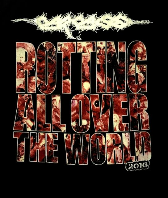 CARCASS cd lgo ROTTING ALL OVER WORLD 2016 Official SHIRT XL New putrefaction