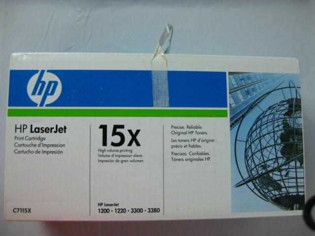 HP LASERJET 15X BLACK PRINT CARTRIDGE C7115X NEW IN SEALED BOX