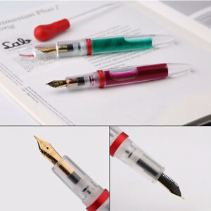 US-Transparent-Moonman-M2-Fountain-Pen-Extra-Fine-Nib-with-Box-for-Birthday-Gift