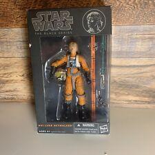 "Luke Skywalker X-Wing Orange 6/"" The Black Series Star Wars #01 Hasbro Comme neuf IN BOX"