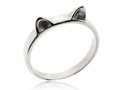 Cute Lovely Animal Cat Rings For Women 925 Sterling Silver