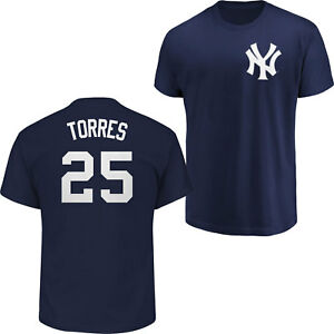 online store 1c095 86898 Details about Gleyber Torres #25 New York Yankees Majestic Men's Navy Name  & Number T-Shirt