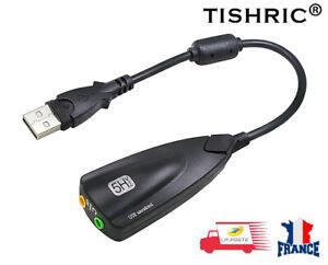 Externe USB Carte Son 7.1 Canaux Audio Adaptateur 3.5mm Casque MIC PC Bureau