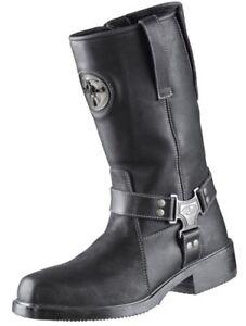 Motorrad-Stiefel-Boots-Nevada-II-Held-schwarz-Leder-Rocker-Chopper-NEU