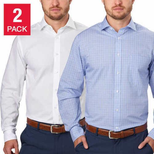 Tommy Hilfiger Men/'s Regular Fit Dress Shirt 2-Pack