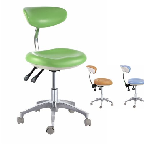 New Medical Dental Mobile Chair Doctor's Stools with Backrest PU Leather QY600-1