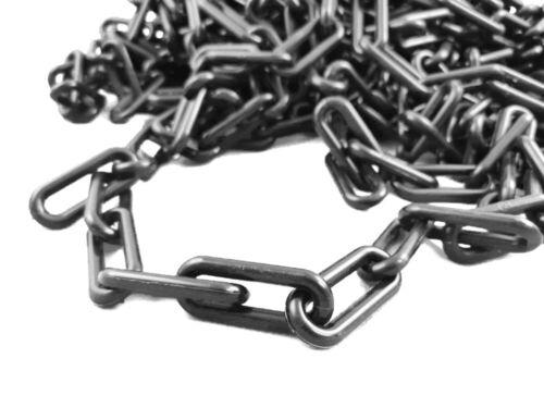 25m Kunststoff Absperrkette in verschiedenen Stärken Farbe Schwarz